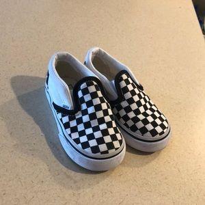Toddler checkerboard vans